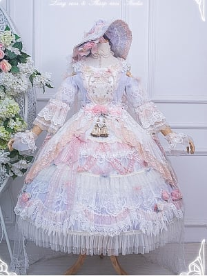 Gorgeous The Day of Love and Streamer Hanayome Custom Size Lolita Dress OP Set by Long ears & Sharp ears Studio