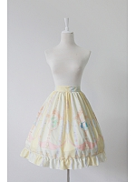 Natural Waistline Flounce Hemline Lolita Skirt / SK - La Pucelle and Pigeon by Souffle Song