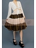 High Quality Ball-Shaped Contrasting-Colors Design Skirt with White Edge by Lace Garden
