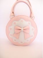 Bowknot Decoration Round Handbag by Loris