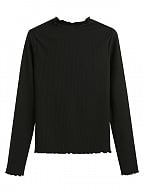 Elastic Knitwear Daily Long Sleeve Blouse by Mary