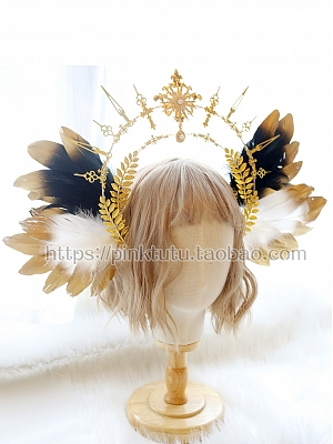 DIY Lolita Headpiece Accessories Package Sun Halo Feather Wings by Miss Bunny