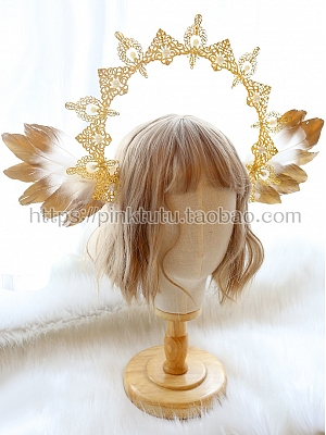 DIY Lolita Headclips Accessories Package Angel Feather Wings by Miss Bunny