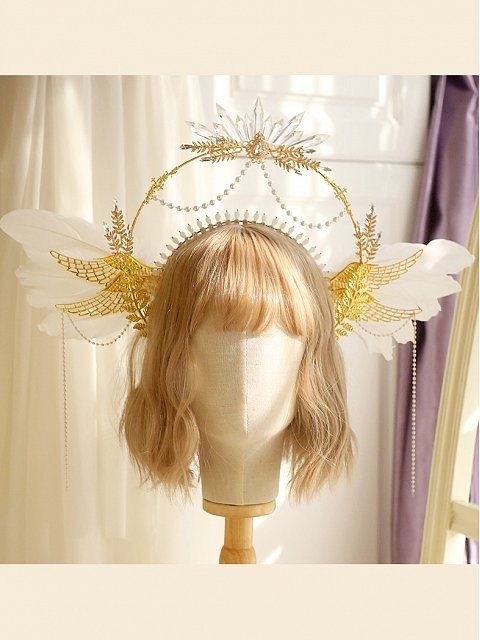 Elegant DIY Lolita Headpiece Accessories Package Feather Wings by Miss Bunny