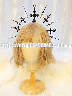 DIY Lolita Headpiece Accessories Package Virgin Halo Black Cross by Miss Bunny