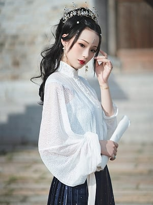 Constellation Book Chinese Style Shirt by Mirror Miracle
