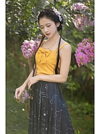 Constellation Book Chinese Style Skirt by Mirror Miracle