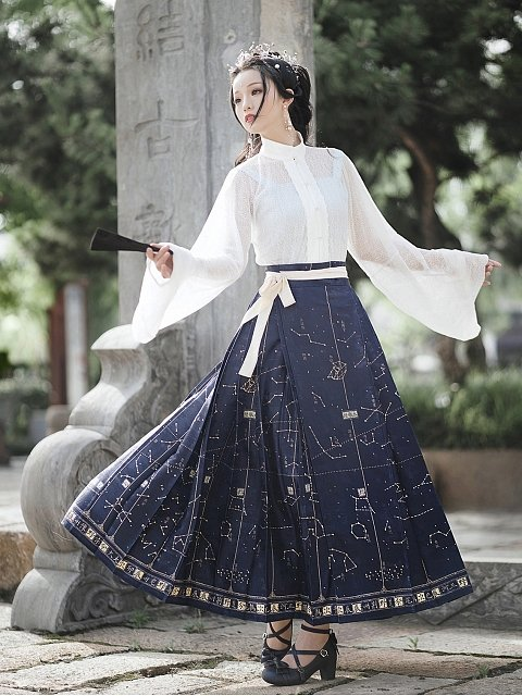 Constellation Book Chinese Style Long Skirt by Mirror Miracle