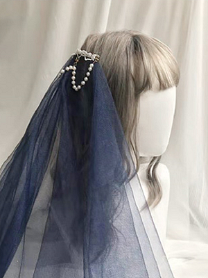 Secret Lotus Chinese Style Lolita Veil / Hairclip by Mirror Miracle