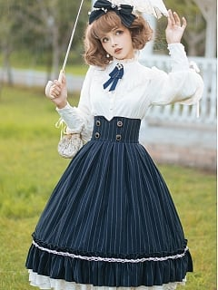 Rose Doll Elegant Vintage High Waist Skirt Lolita SK