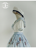 Sailor Collar Cropped Top Custom Size Available - Sailor Rabbit by Miss Point