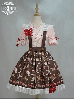 Tailor Rabbit Sweet Lolita Skirt with Straps by Miss Point Custom Size Available