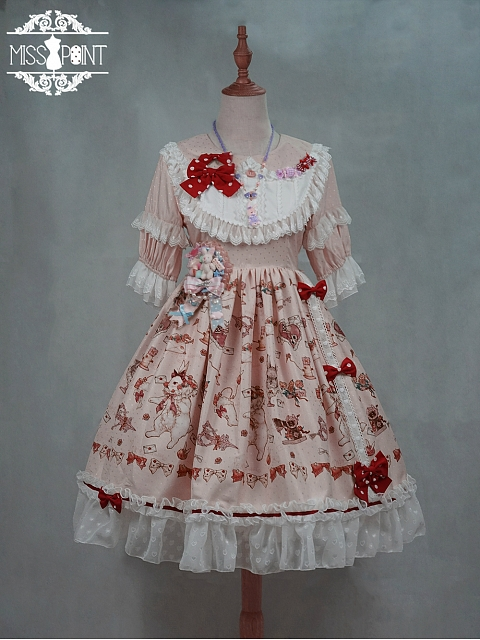 Tailor Rabbit Sweet Lolita Mid-length Sleeves OP by Miss Point Custom Size Available
