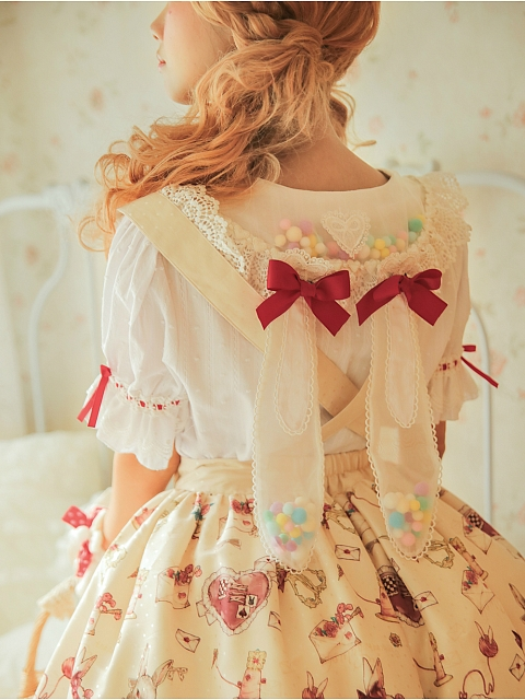 Tailor Rabbit Sweet Lolita Removable Long Sleeves Summer Shirt by Miss Point Custom Size Available