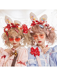Tailor Rabiit Matching Cute Rabbit Ears KC by Miss Point