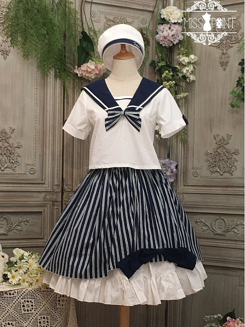 Transoceanic Letter Lolita Set Top /Skirt SK by Miss Point Custom Size Available