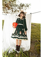 Letter of Autumn Day Peter Pan Collar Lolita Dress OP by Miss Point Custom Size Available