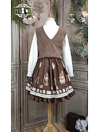 Letter of Autumn Day Lolita Skirt SK by Miss Point Custom Size Available