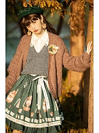 Letter of Autumn Day Lolita Knitted Vest by Miss Point