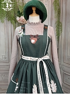 Letter of Autumn Day Lolita High Collar Sweater by Miss Point