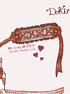 Pre-order DoKira Strawberry Muffin Red Plaid Pastoral Hairband by MilkyWay