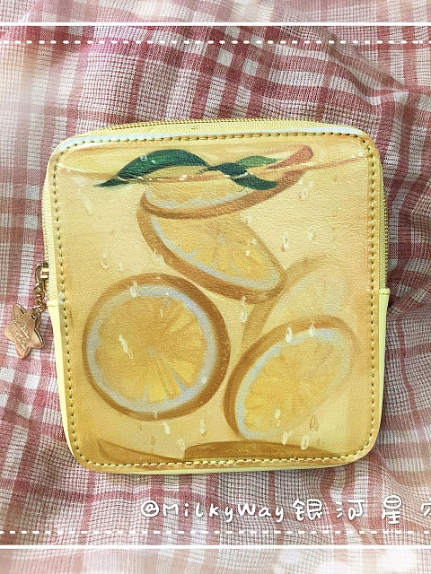 Strawberry Milk Tea Lemon and Other Drinks Series Wallet Bag by MilkyWay