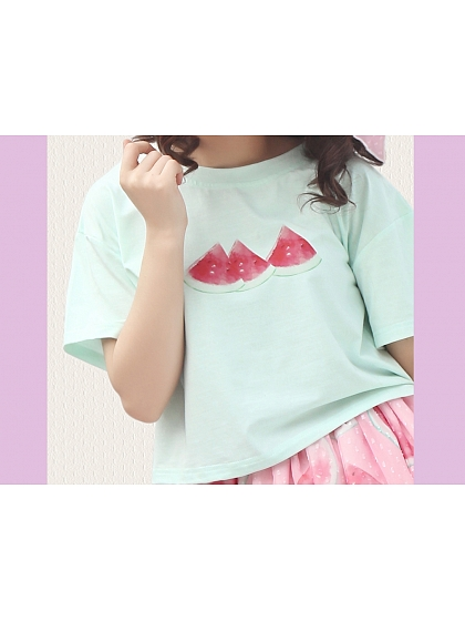 Eat Watermelon T-shirt by Miwako