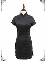 Lace-Up Side Qipao by Miwako