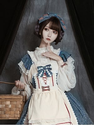 Midsummer Starlight Lolita Dress JSK Mathcing Blouse by Miss JianZhi