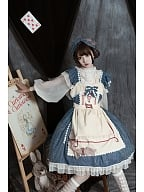 Midsummer Starlight Lolita Dress Matching Apron by Miss JianZhi