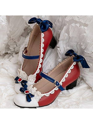 Snow White Coronation in Forest Mary Jane Middle-heels Shoes