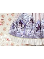 A Deep Sleep's High Waist Scenes of Sleeping Beauty Printed SK by Milu Forest
