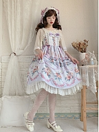 Praise of Flowers Sweet Lolita Dress JSK by Moly Lolita