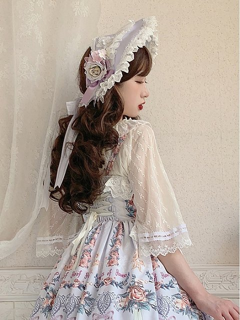 Praise of Flowers Lolita Dress JSK Matching Bonnet /Hairband by Moly Lolita