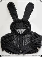 Rabbit With Lace Detachable Ears Shirt by Moon River