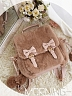 Plush Coral Zipper Magnetic Buckle Backpack by Morning Glory