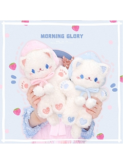 Strawberry Cat Doll Bag Pink and Blue Color by Morning Glory