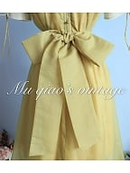 Matcha Green Summer Vintage Dress by Mu Qiao's Vintage
