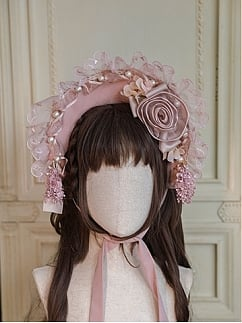 Dolly Little Rose Elegant Lolita Dress Matching Bonnet by Miracles