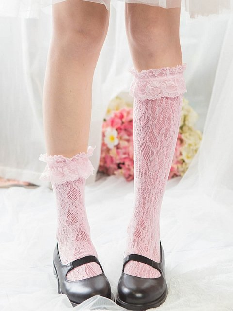 Magnolia Sweet Lolita Lace Nets Stockings by Ms. Sox