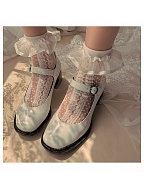 Satin Tulle Lace Sweet Lolita Socks by Ms. Sox