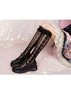 Small Bowknots Girls Underknee Lolita Stockings by Ms. Sox