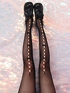 Cutout Front Small Bowknots Lolita Tights by Ms. Sox