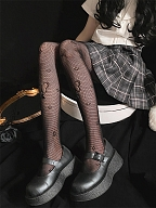 Small Bowknots Lolita Net Tights by Ms. Sox