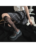 Sweet Lolita Lace Nets Underknee Stockings with Chain by Ms. Sox