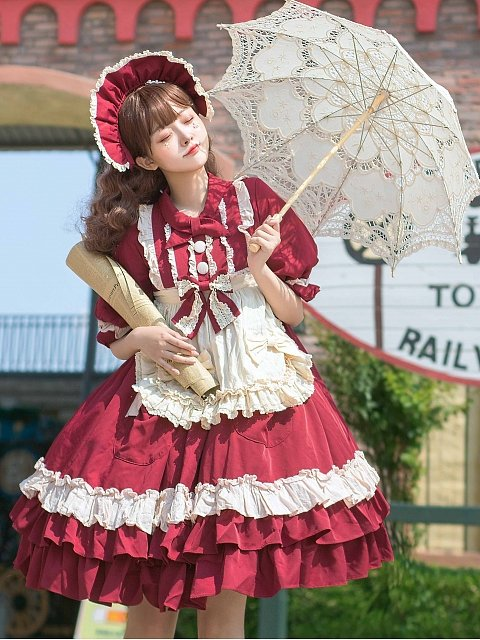 Pokamon Sweet Lolita Dress OP by Magic Skirt Cat