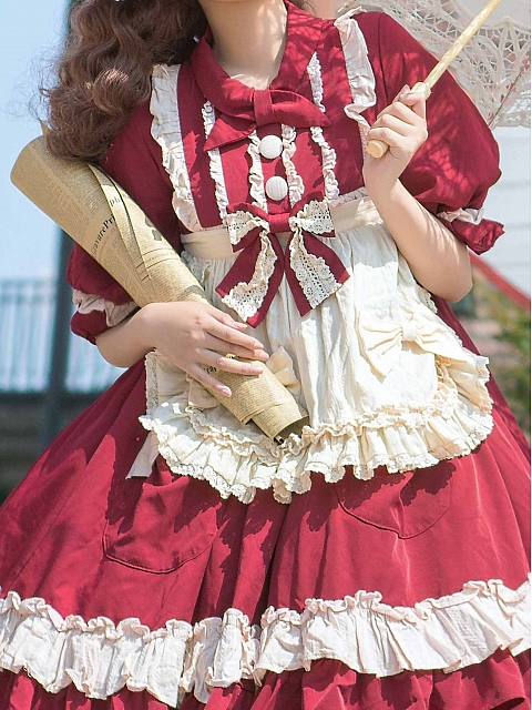 Pokamon Sweet Lolita Dress OP Matching Accessories by Magic Skirt Cat