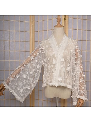Fireworks Festival Wa Lolita Lace Cardigan by Magic Tea Party
