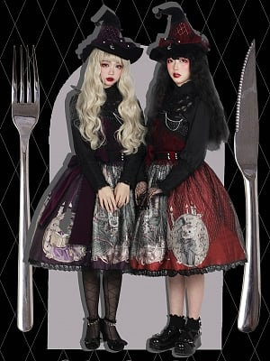 [Limited Edition] Witch's Feast Halloween Gothic Lolita Dress JSK by Magic Tea Party