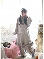 Cat Ear Plush Leisure Wear Set by MUMU